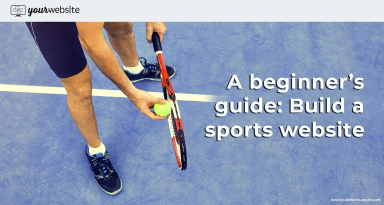 build sports website with tennis picture