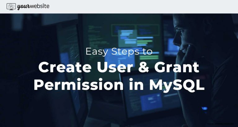 MySQL create user